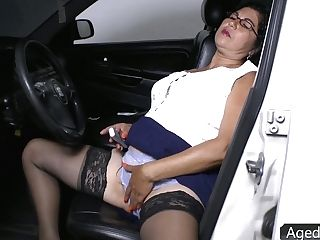 Matures Woman In Stockings Is Hungry For Hard And Meaty Penis Of Her Youthful Neighbor