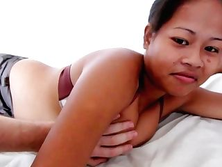 Asian With Big Tits Gets Fucked Doggiestyle