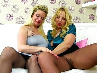 English Cougar Lucy Loves To Eat Summer's Fanny