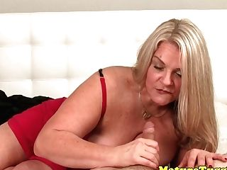Huge-chested Matures Voluptuously Kneading Hard Manhood Point Of View