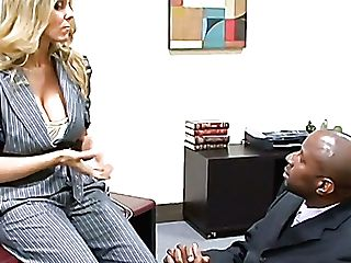 Chesty Blonde Chief Julia Ann Gets Kinder Seen Hard Boner Big Black Cock In Front Of Her