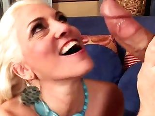 Sexy Blonde Matures In Stockings Fucks The Neighbour