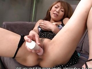 Jun Kusanagi In Jun Kusanagi Is Drilling Her Moistened Honeypot With A Yam-sized Fuckfest Equipment - Avidolz