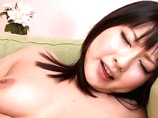Sweet Like Peach Dark Haired From Japan Megumi Haruka Goes Solo With Fucktoy