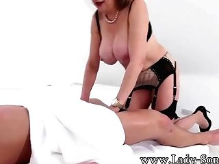 Lady Sonia And Jason Dark-skinned In Draining Jasons Penis After - Big Jugs