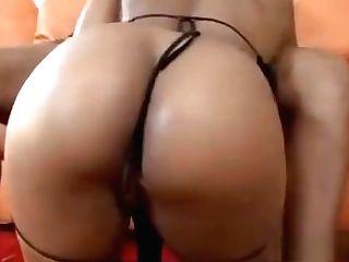 Black Stunner With Big Tits Inhaling Dick