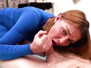 Experienced Mommy Marie Mccray Gives A Supreme Fellatio To Her Stepson