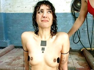 Bobbi Starr & Bianca Stone In Bianca's Hairy Cootchie Clean-shaven Live On Electrosluts - Electrosluts