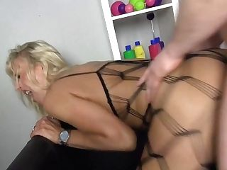 Orgy Bomb Mom Fucks Youthful Son-in-law And Gets Jism To Mouth
