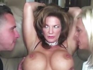 Role Have Fun By Sexy Cat Woman Mummy Deauxma Finishes In Trio Way Fuck!