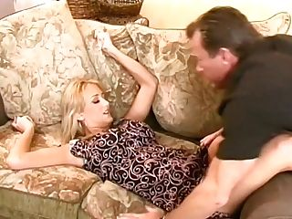Ginormous Jugged Blonde Housewife Works On Stiff Delicious Man Sausage With Her Mouth