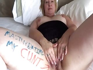 I'm A Fuck Pig Whore, Finger-tickling My Cunt For You