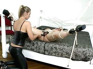 Fabulous Blonde Mistress Dildofucks Her Mummy Fucky-fucky Sub