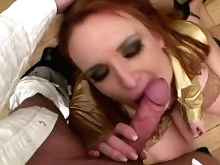 Ginger-haired With Powerful Makeup Provides A Dick With A Solid Blow-job For Sperm