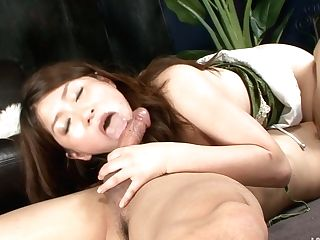 Alluring Japanese Honey Gives A Head And Afterwards She Is Fucked Hard From Behind