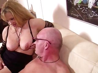 German Step-mom Train Daughter-in-law To Fuck With Bf