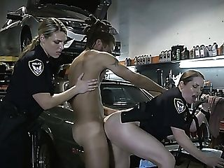 Lustful And Horny Police Officers Fuck Marvelous Mechanic In Threesome