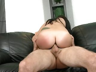 Black-haired Tramp  Performed  Her Puss  And Rails Dick Intensively