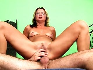 Weird Blonde Cougar Rhonda Rails The Youthful Dick Of Ryan