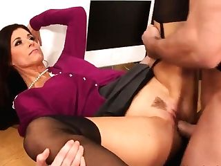 Sexy Tutor Shows Her Tits And Flawless Caboose