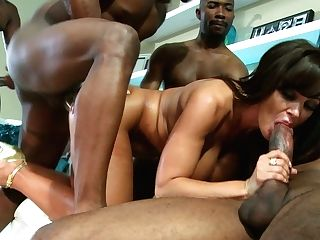 Three Black Chisels At Once Is Not A Limit For Lisa Ann