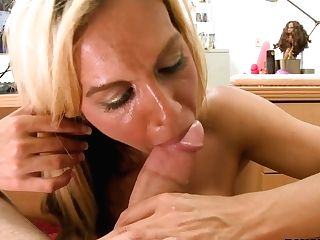 Nasty Bitch Kalani Breeze Get Her Vagina Poked On A Table And Afterward Gives A Hot Bj