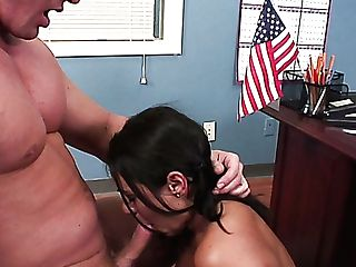 Big Boobed Brown-haired Charley Chase Loves Missionary Position