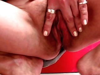 Very Old Blonde Mommy In Law Rails His Pink Cigar