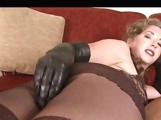 Chocolate-colored Pantyhose Legjob